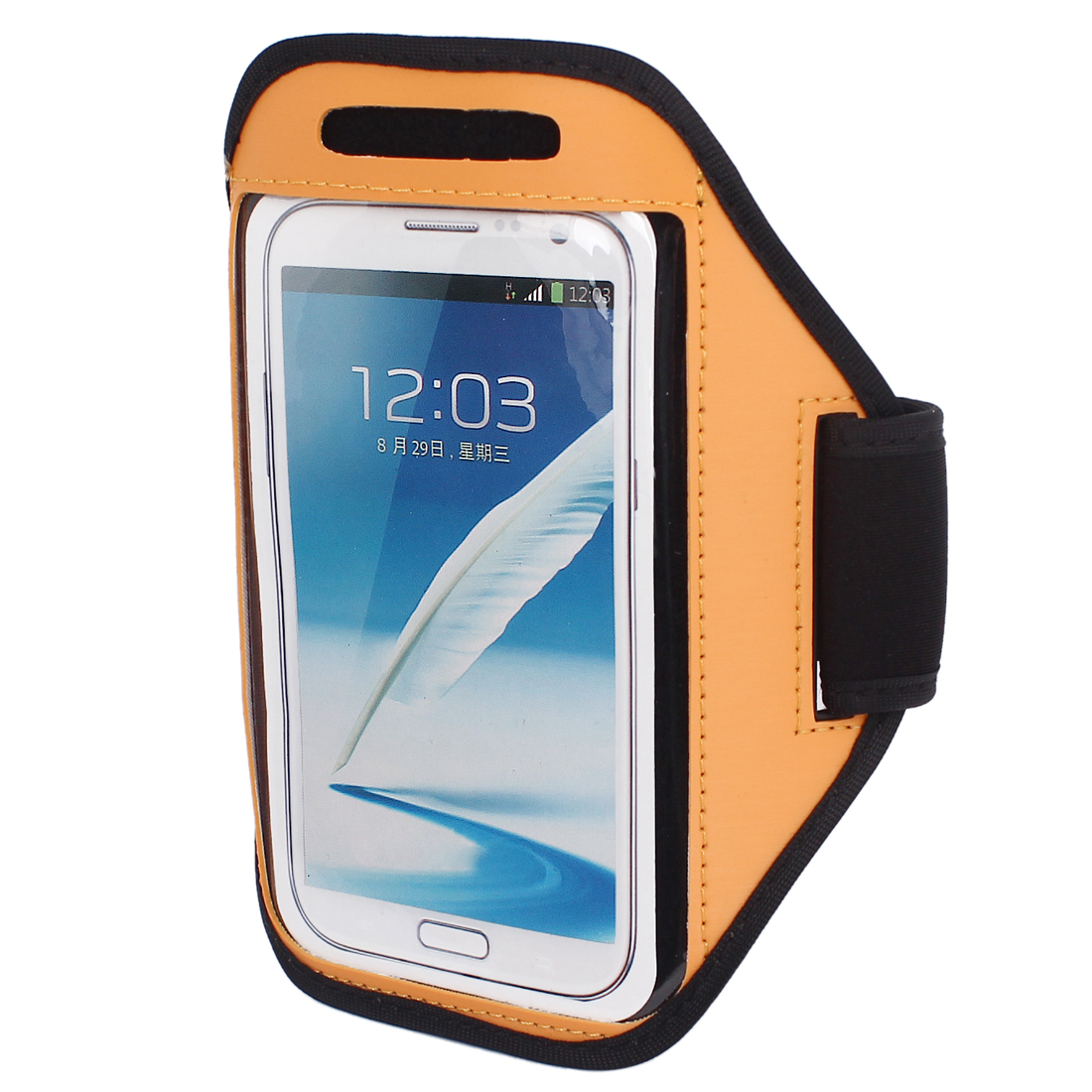 Sports Running Jogging Gym Armband Pouch Case Cover Holder Orange for Note 2 3