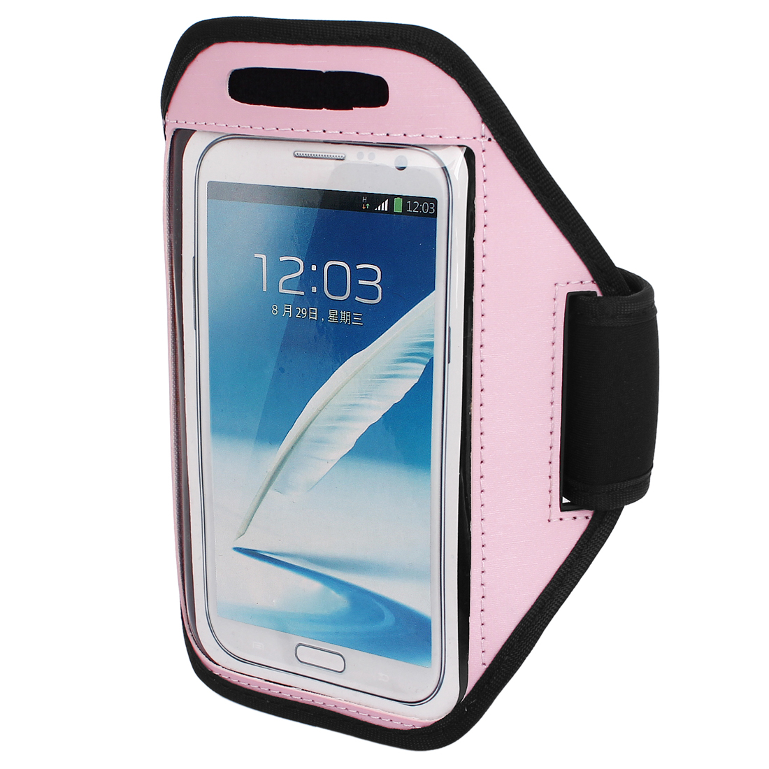 Sports Running Jogging Gym Armband Pouch Case Cover Holder Pink for Note 2 3