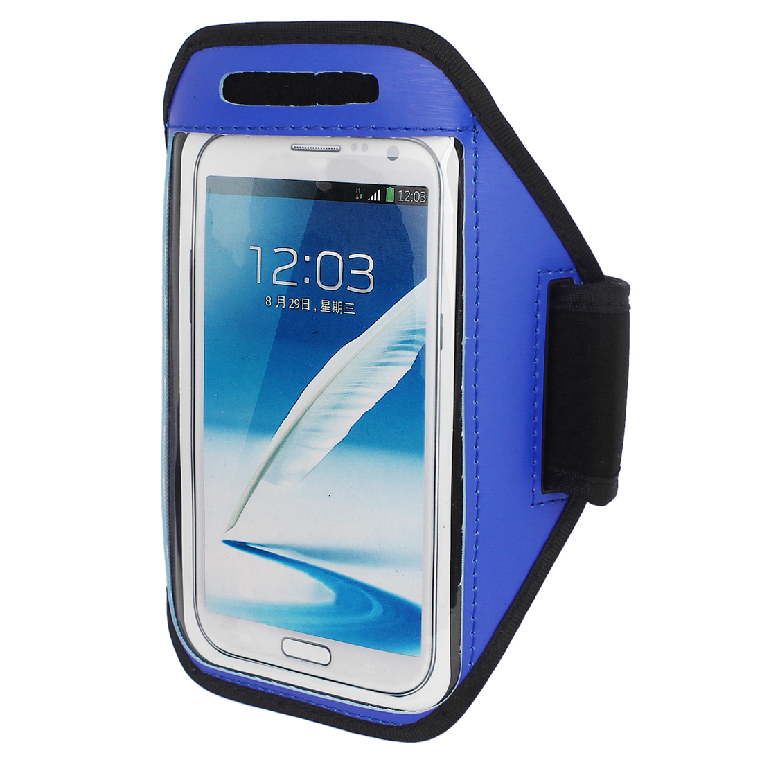 Outdoor Running Jogging Gym Armband Pouch Case Cover Holder Blue for Note 2 3