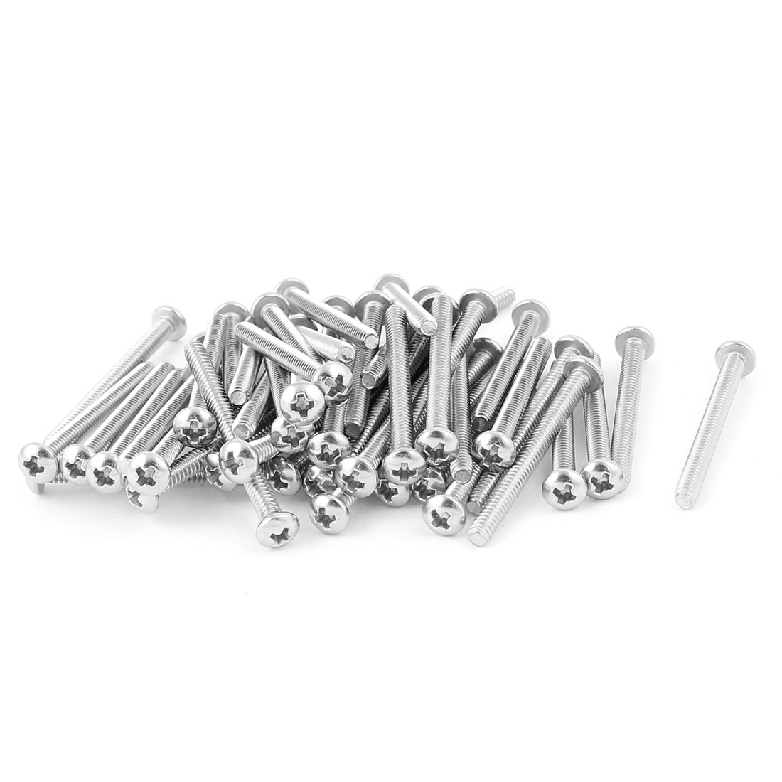 "50 Pcs #4-40 x 1 1/4"" Stainless Steel Truss Head Bolts Phillips Machine Screws"