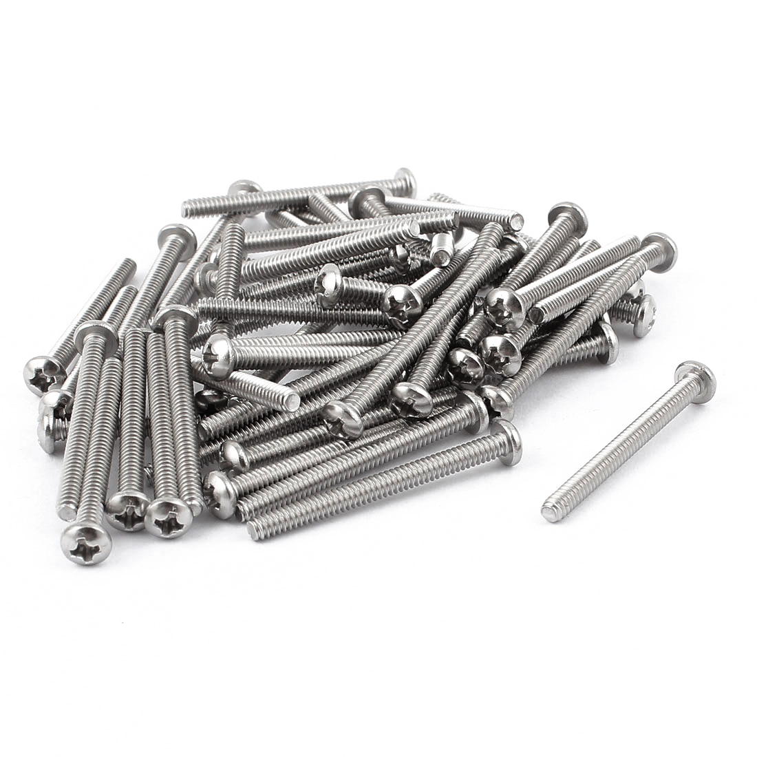 "50 Pcs #6-32 x 1 1/2"" Phillips Truss Head Machine Screws Fasteners 40mm Long"