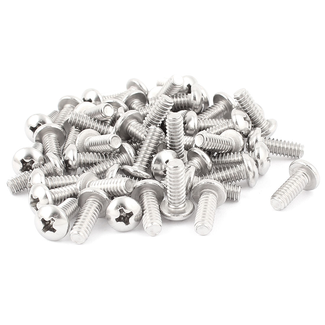 "50 Pcs 10#-24 x 1/2"" Stainless Steel Phillips Truss Head Bolts Machine Screws"