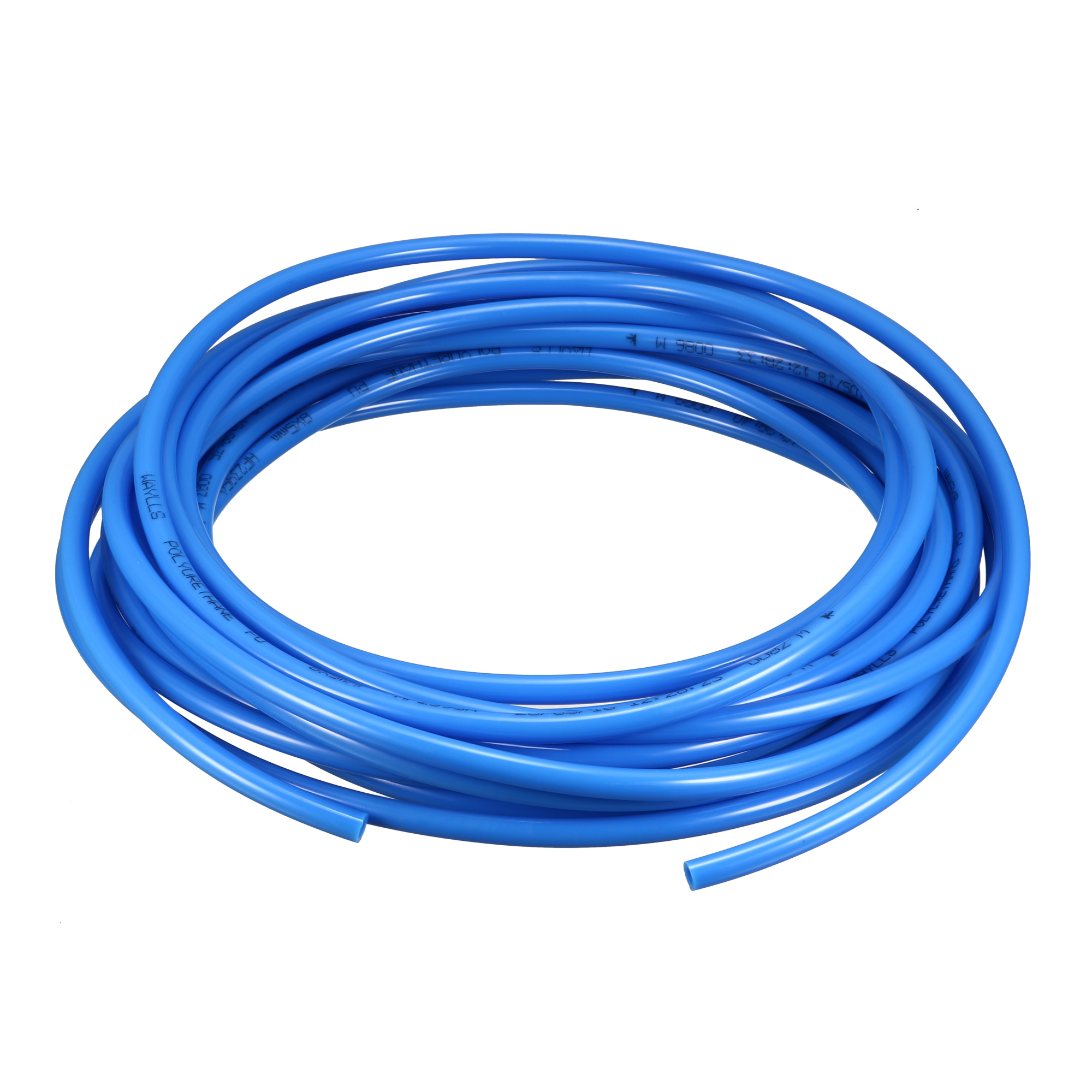 8mm x 5mm Pneumatic Air Compressor Tubing PU Hose Tube Pipe 9.5m Blue
