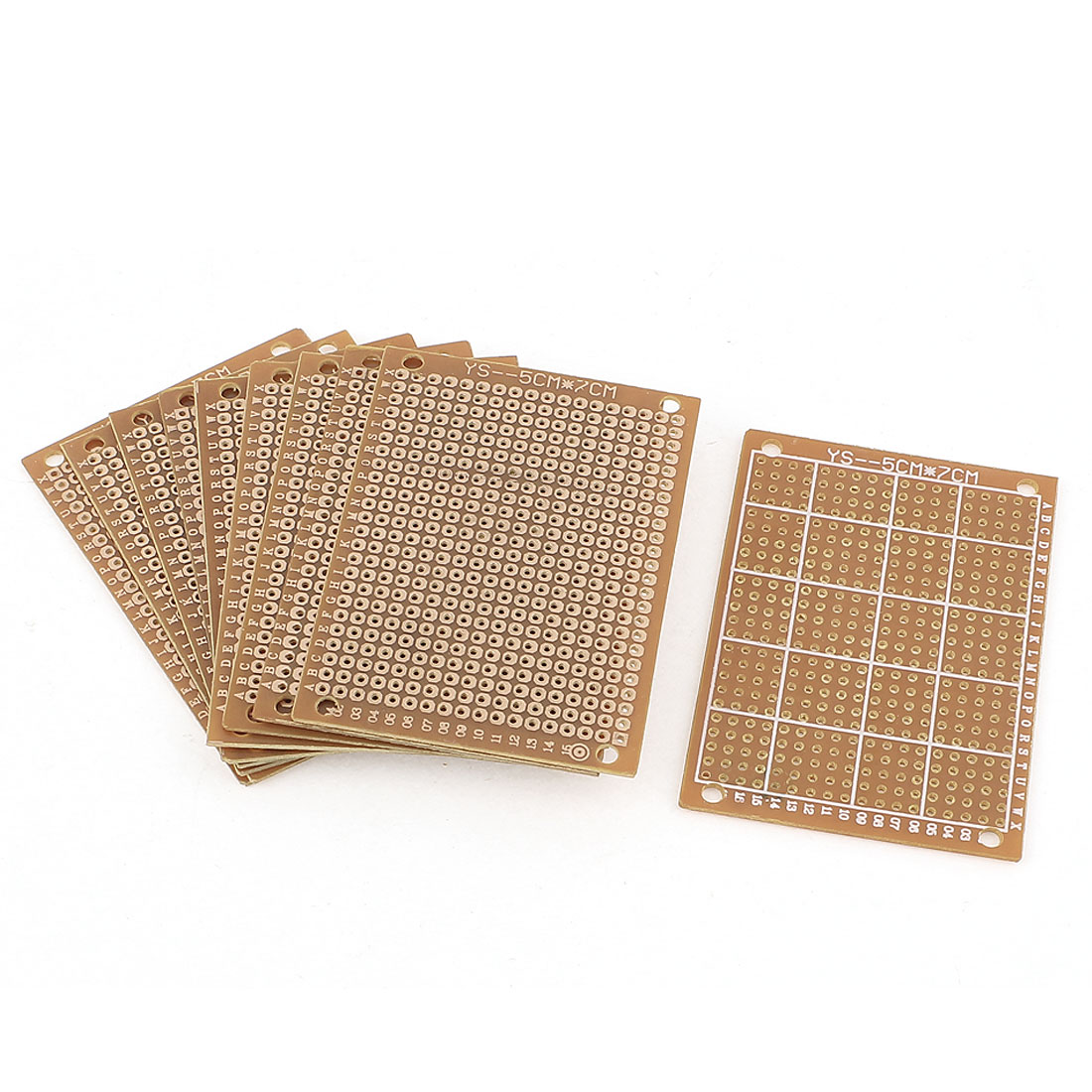 10pcs Single-sided PCB Printed Circuit Board Prototype Breadboard 7cm x 5cm