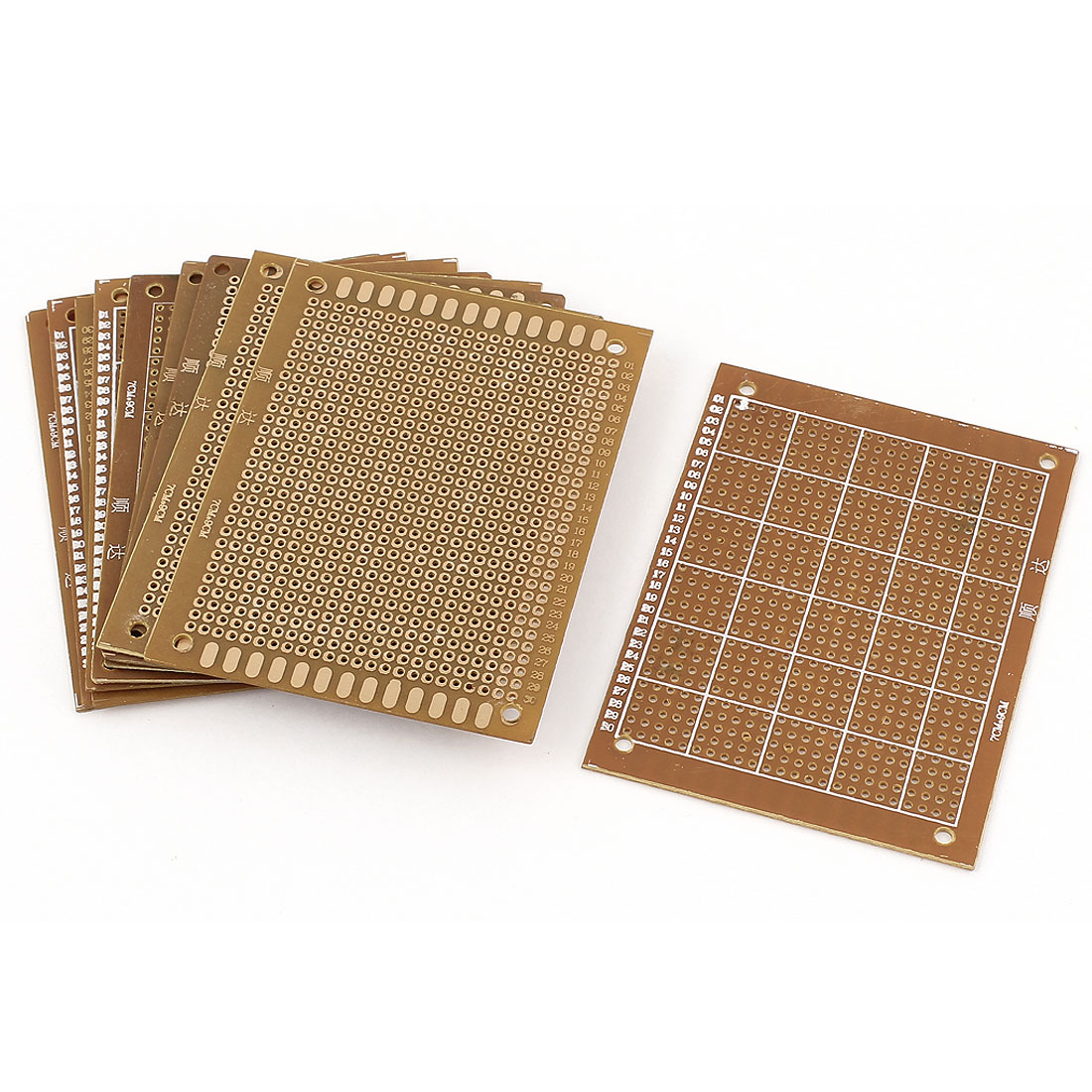 10pcs Single-sided PCB Printed Circuit Board Prototype Breadboard 9cm x 7cm