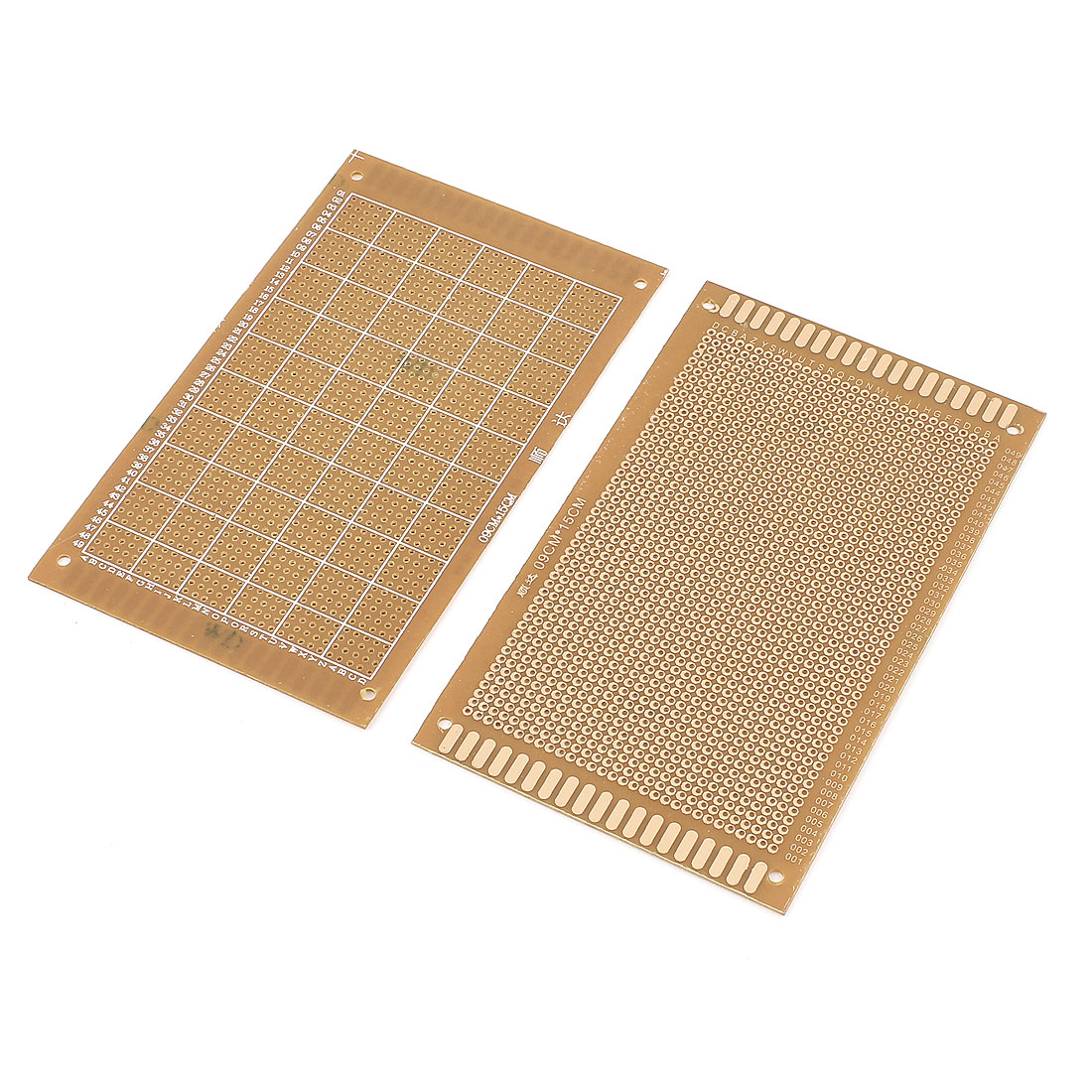 2pcs Single-sided PCB Printed Circuit Board Prototype Breadboard 15cm x 9cm