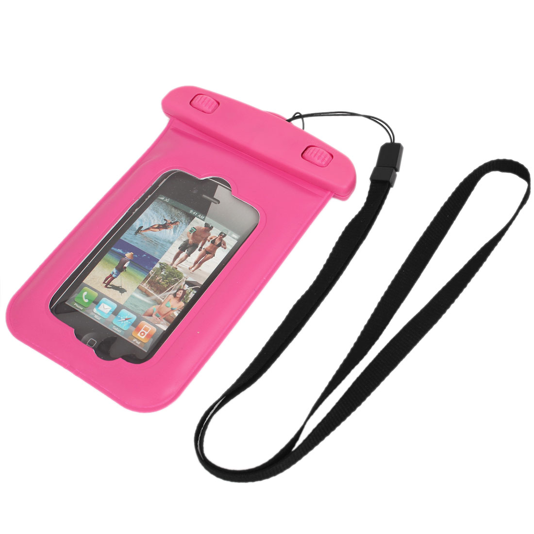 Waterproof Bag Holder Pouch Case Pink for iPhone 4/4S w Neck Strap