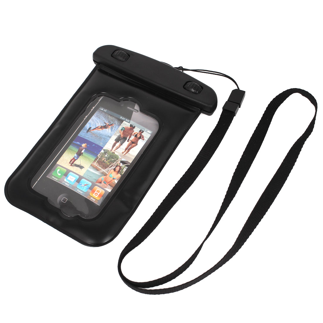 Waterproof Bag Holder Pouch Case Black forw Neck Strap