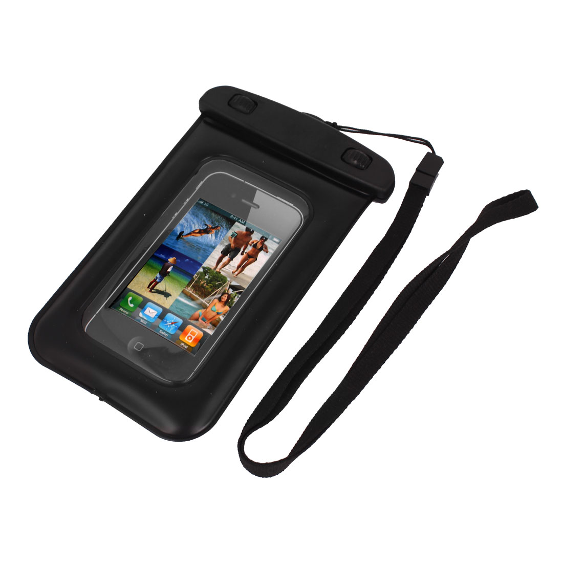 Waterproof Bag Holder Pouch Black for iPhone 5C/5S w Neck Strap