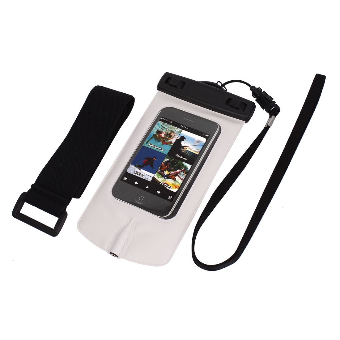 Waterproof Swimming Pouch Dry Bag Case for iPhone 4G w Armband Earphone