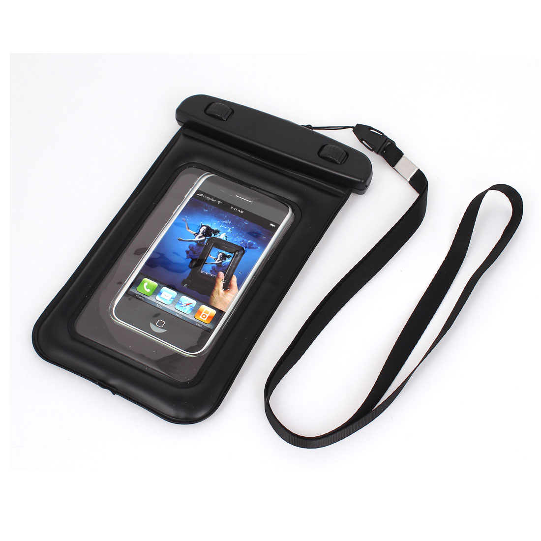 "Waterproof Swimming Beach Bag Case for 4.5"" Cell Phone w Neck Strap"