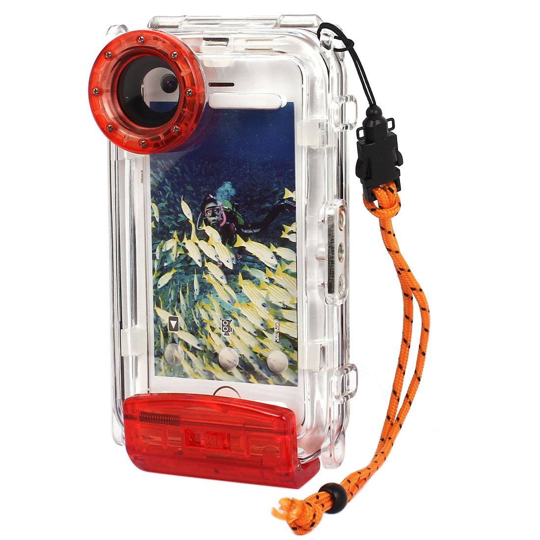 Waterproof Photo Housing Underwater Case Red for iPhone 5/5s/5c