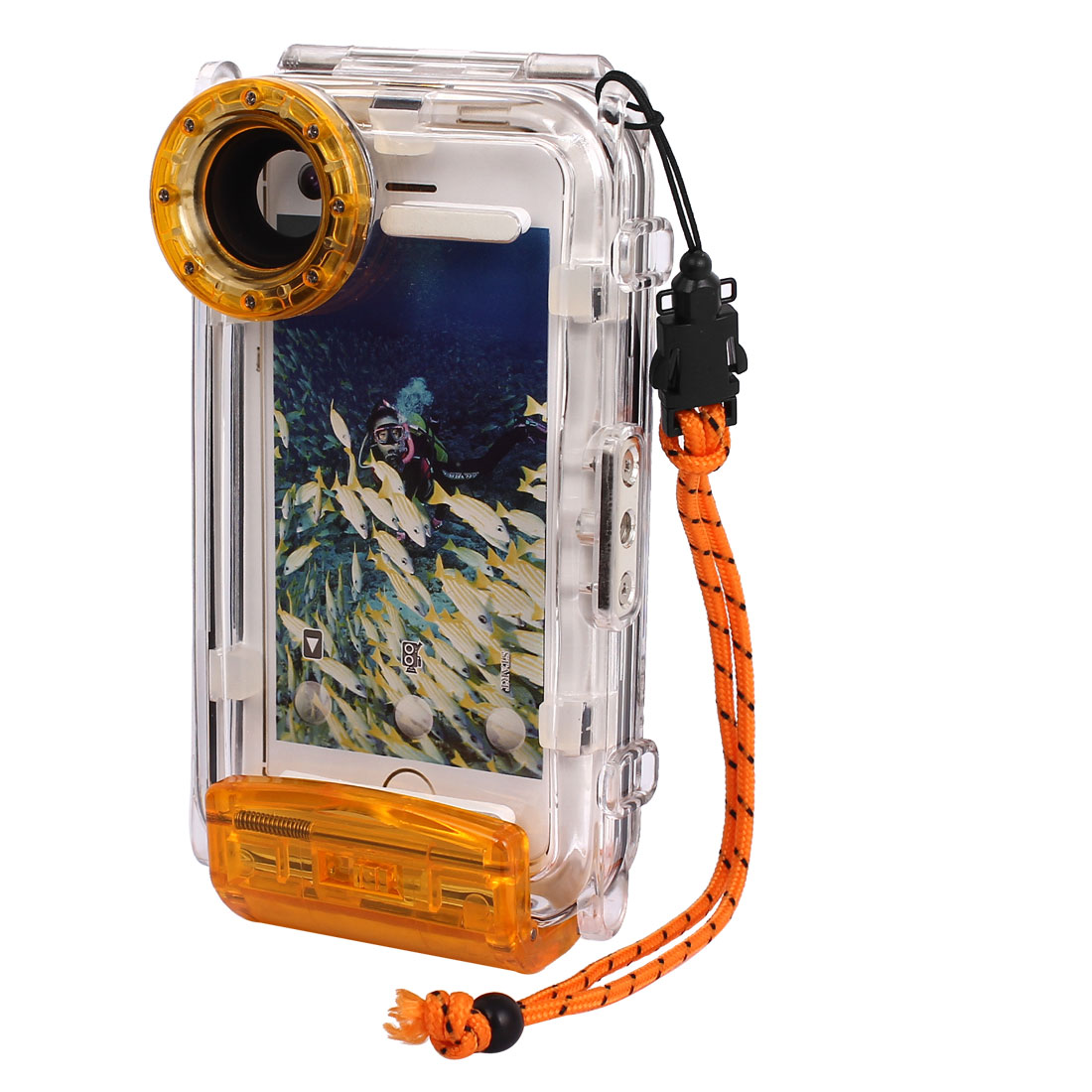 Waterproof Photo Housing Underwater Case Orange for iPhone 5/5s/5c