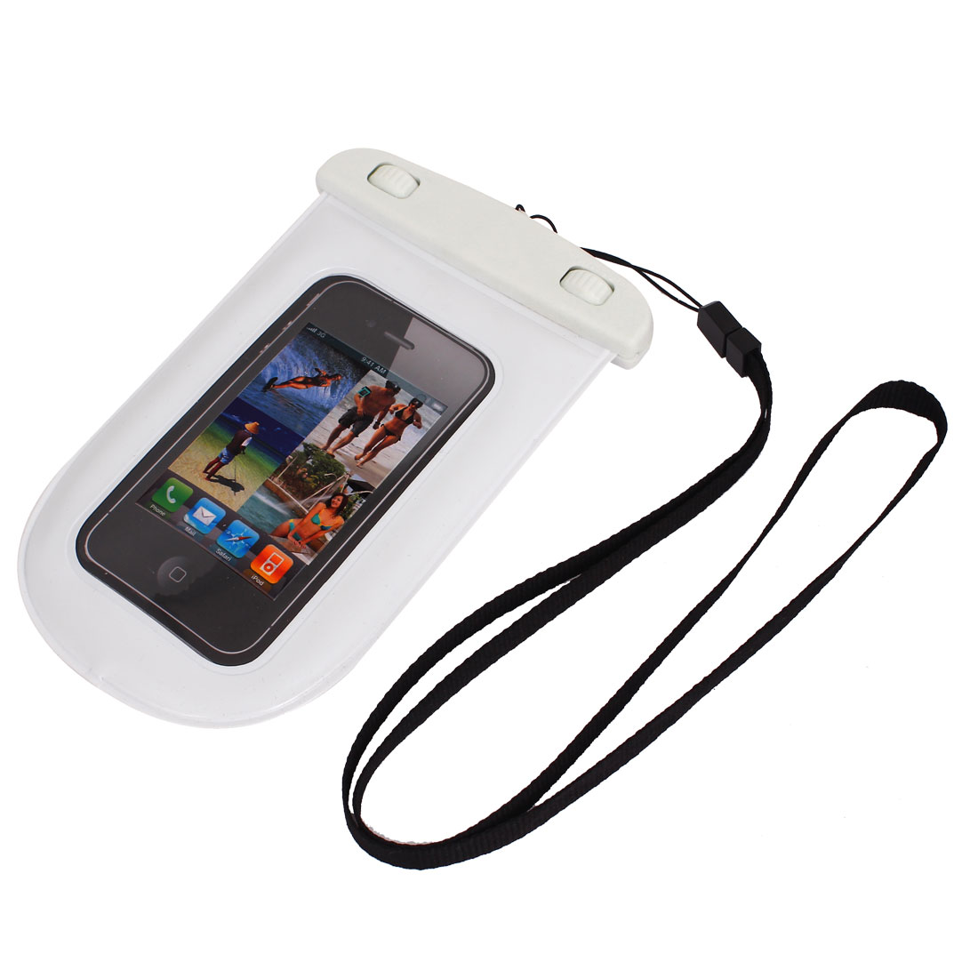 Waterproof Bag Holder Pouch Case White for iPhone 6 w Neck Strap