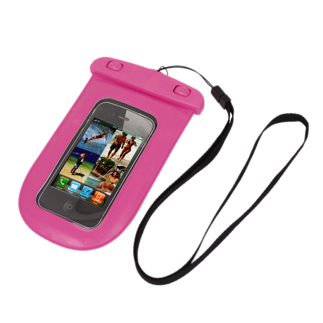 Waterproof Bag Holder Pouch Case Pink for iPhone 6 w Neck Strap