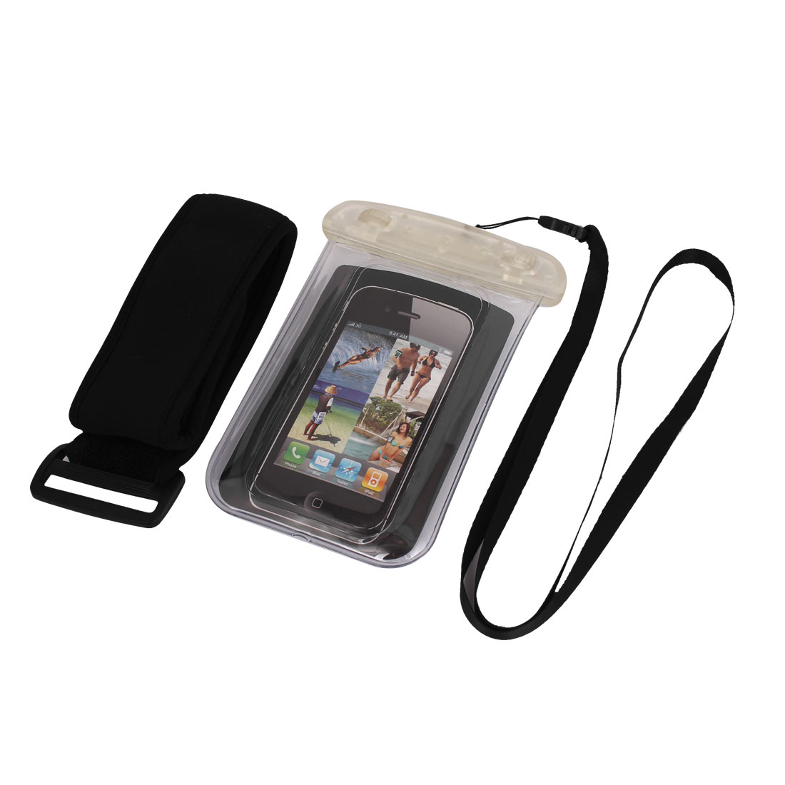 Underwater Waterproof Case Dry Bag Cover Pouch Clear + Arm Band for Cell Phone