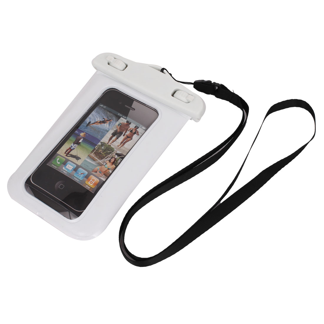 Waterproof Case Dry Bag Cover Skin Pouch White + Neck Strap for Cell Phone