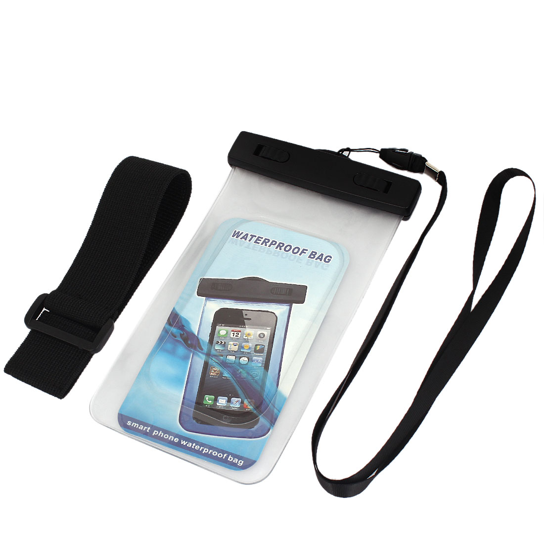 Waterproof Bag Case Holder Pouch Clear for iPhone 5G w Neck Strap Armband