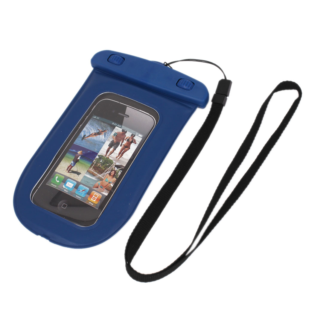 Waterproof Bag Holder Pouch Case Blue for iPhone 6 w Neck Strap