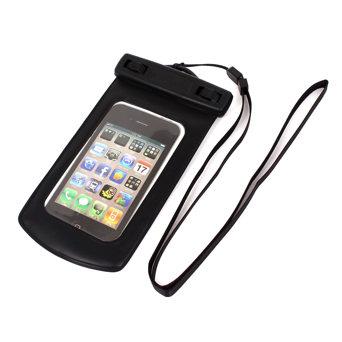"Underwater Waterproof Dry Bag Cover Pouch Case Black for 4"" Cell Phone"