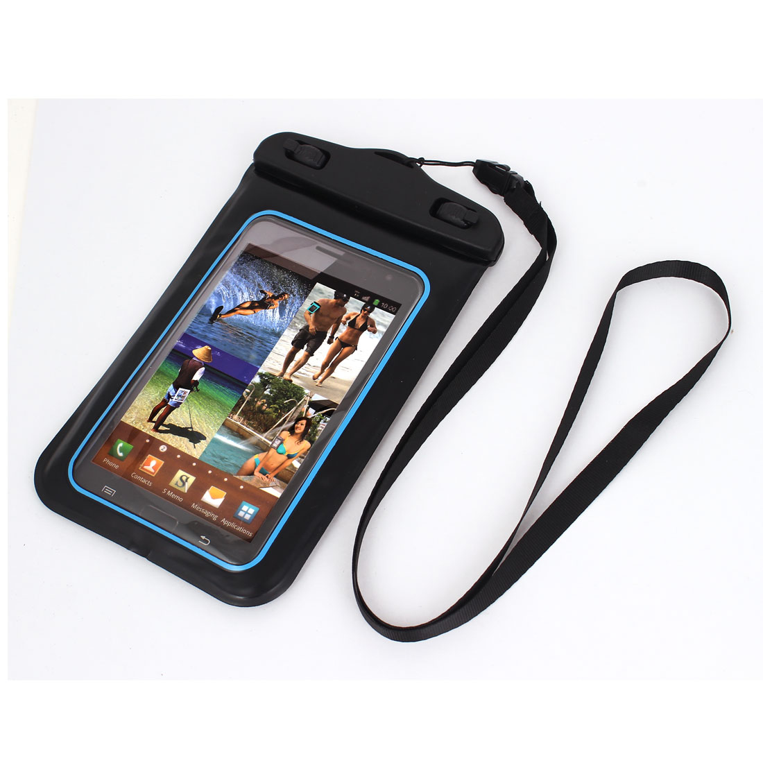 "Waterproof Case Dry Bag Protective Cover Pouch + Strap for 5.5"" Cell Phone"