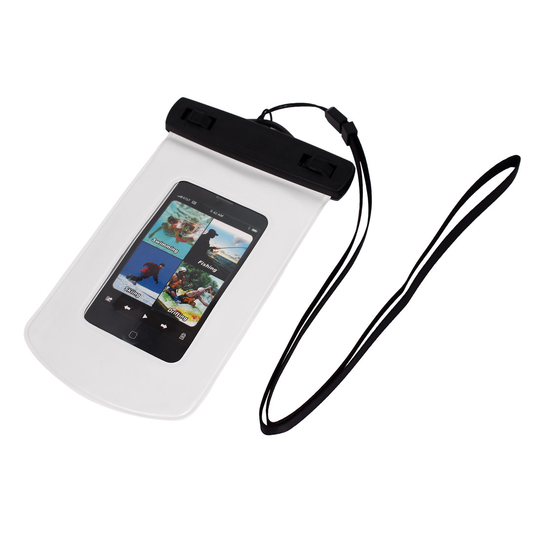 Waterproof Bag Case Holder Protector White for iPhone 4G w Armband Strap