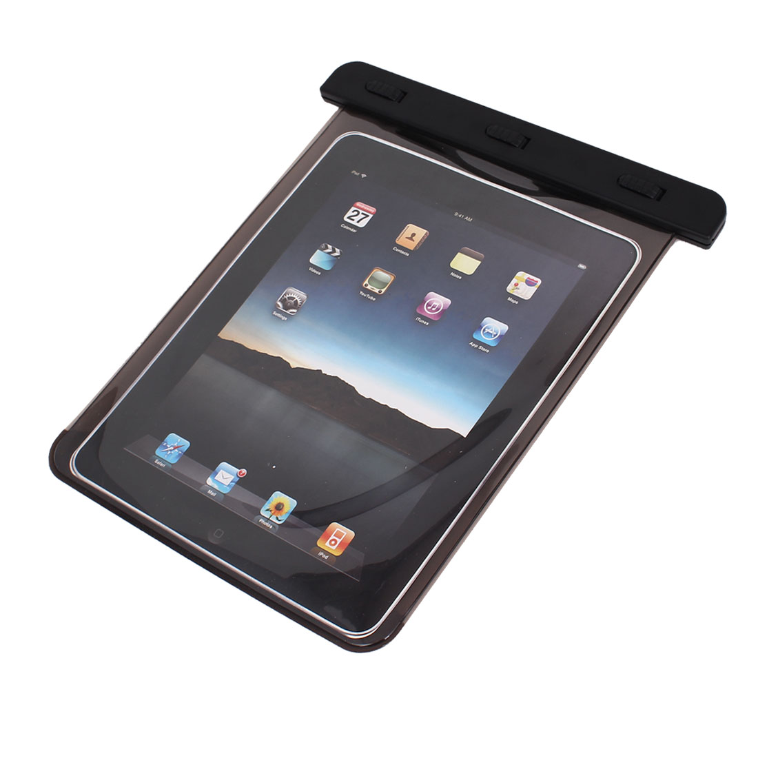 PVC Waterproof Dry Bag Underwater Protector Black for iPad Mini