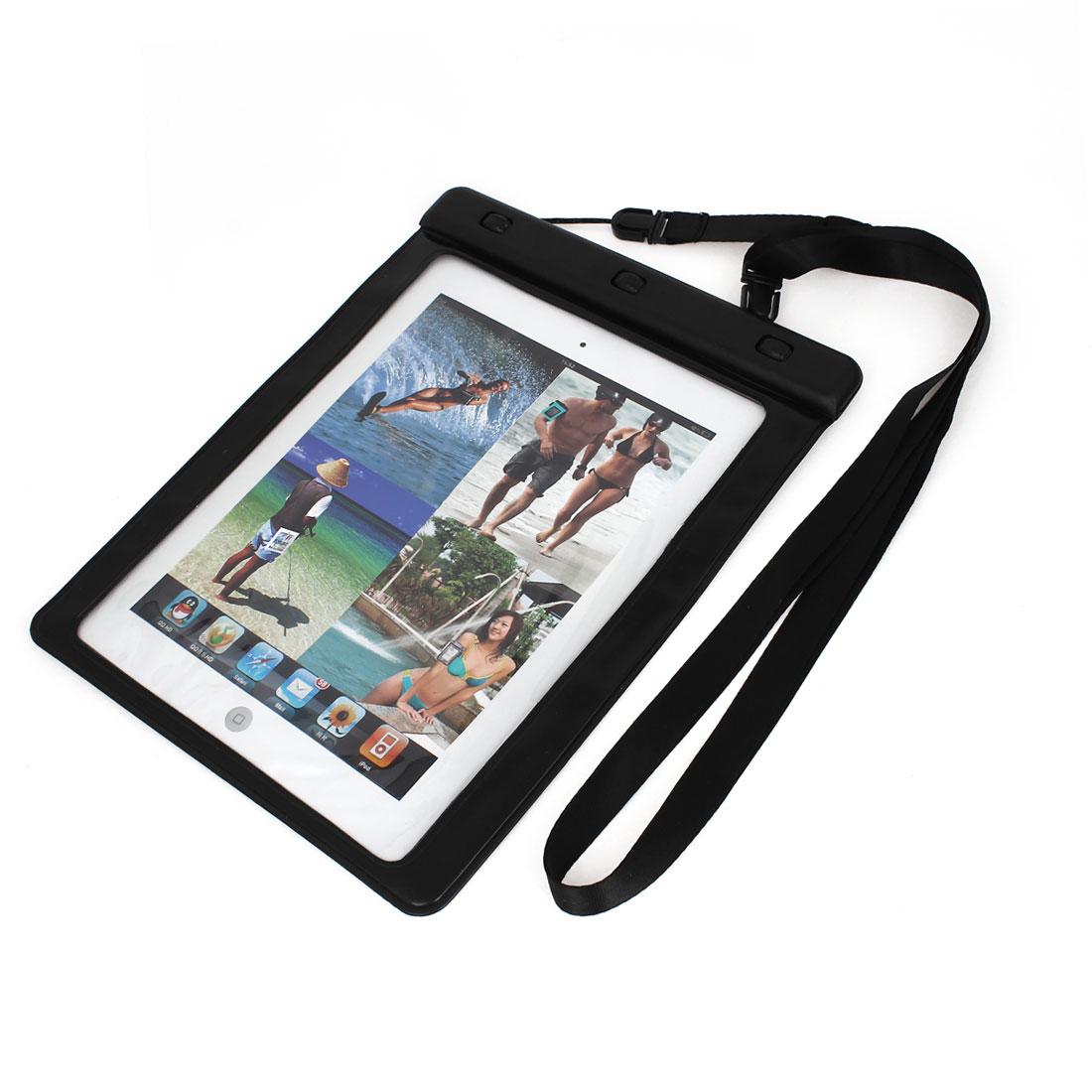 Plastic PVC Tablet Waterproof Bag Skin Cover Black for iPad Mini