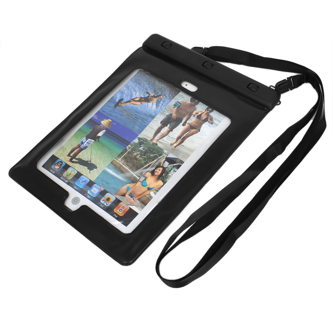 PVC Tablet Waterproof Dry Bag Skin Cover Black for iPad Mini 1/2