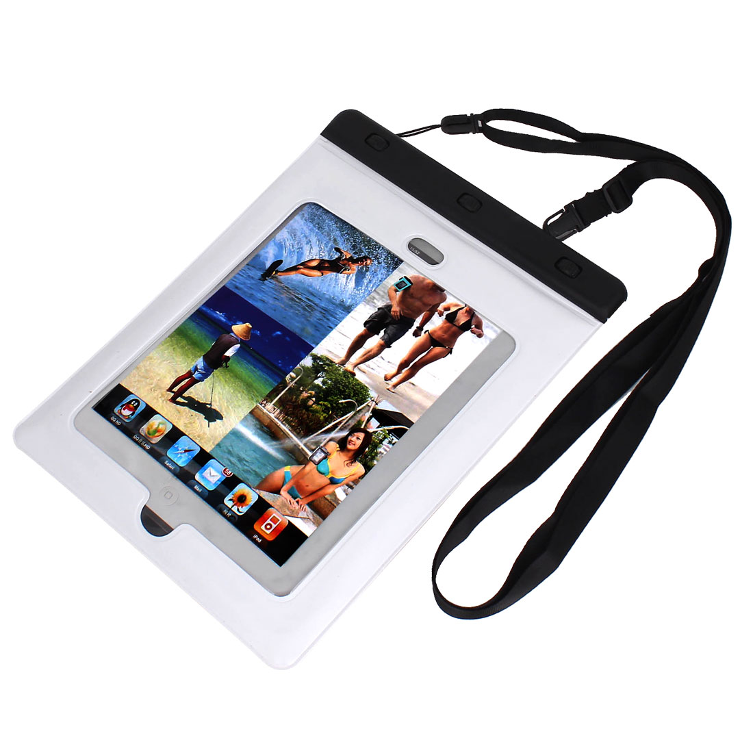 PVC Waterproof Skin Case Cover Dry Bag Protector White for iPad Mini
