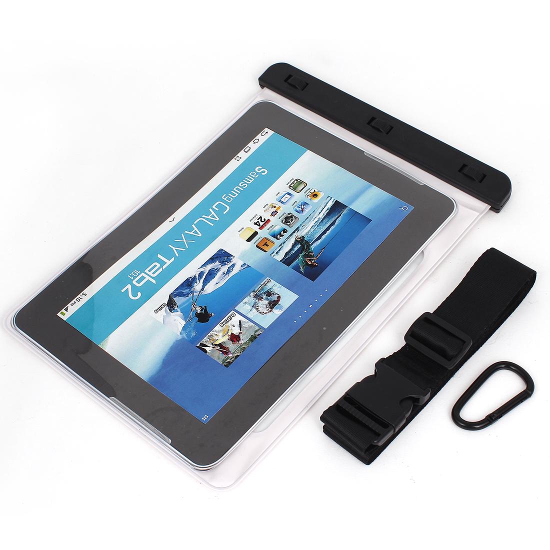 "PVC Tablet Waterproof Bag Sleeve Case Skin Cover Protector White 10"""