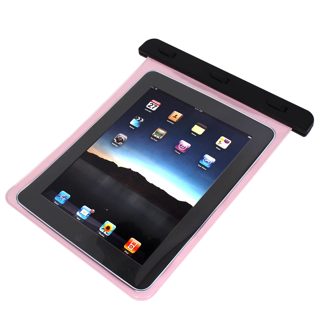 PVC Waterproof Bag Dry Pouch Protector Pink for iPad Mini 1/2