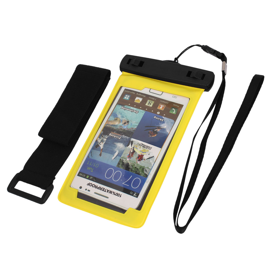 Waterproof Case Dry Bag Skin Cover Saver Pouch Yellow for Cell Phone