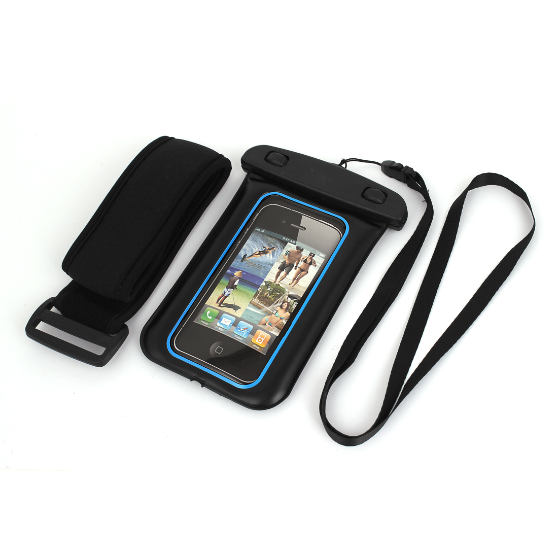 Waterproof Case Dry Bag Skin Cover Pouch Sleeve Black Blue for iPhone 5 5C 5S