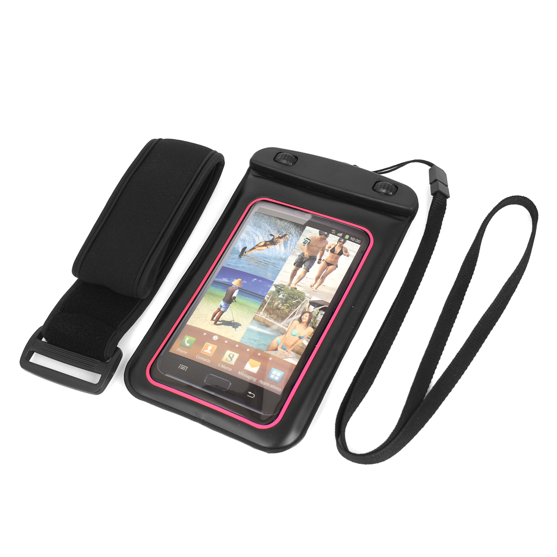 """Waterproof Case Dry Bag Skin Cover Saver Pouch Sleeve for 5.5"""" Cell Phone"""