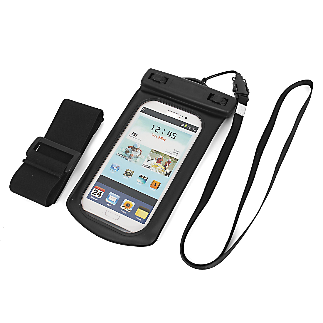 Waterproof Case Dry Bag Cover Skin Pouch Sleeve Black for Galaxy S3 i9300
