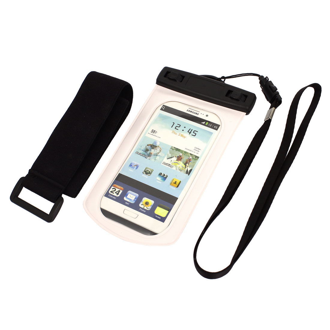 Waterproof Case Dry Bag Cover Skin Pouch Sleeve White for Galaxy S3 i9300