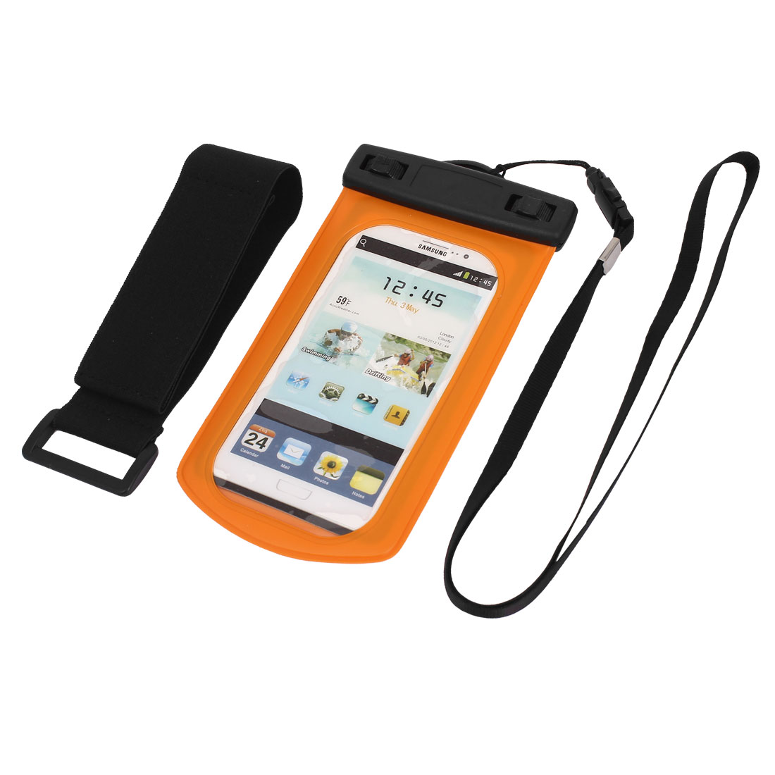 Waterproof Case Dry Bag Cover Skin Pouch Sleeve Orange for Galaxy S3 i9300