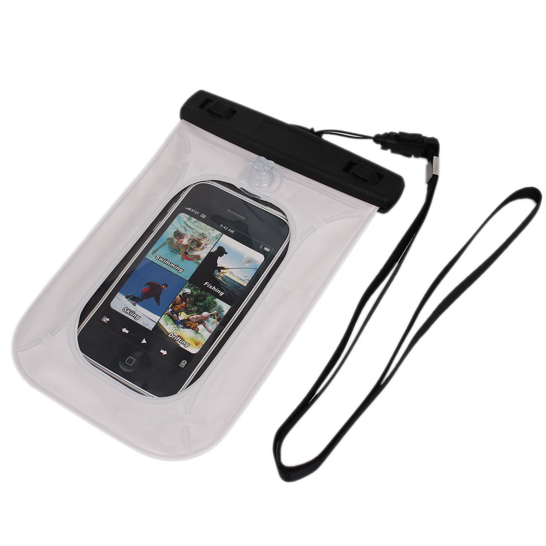 "Waterproof Pouch Underwater Diving Dry Bag Case Cover White for 4"" Cell Phone"