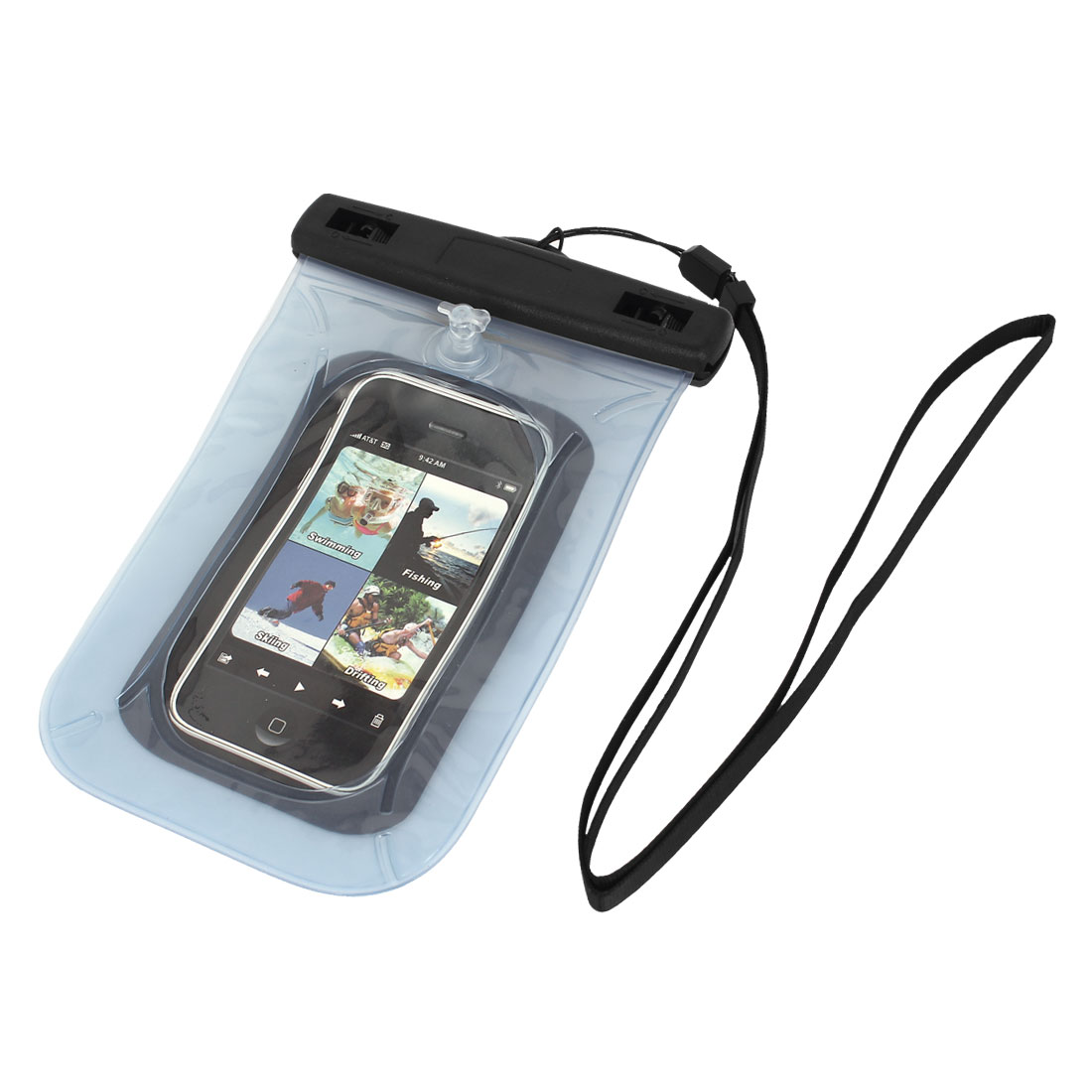 Waterproof Pouch Underwater Diving Dry Bag Case Cover Light Blue for Cell Phone