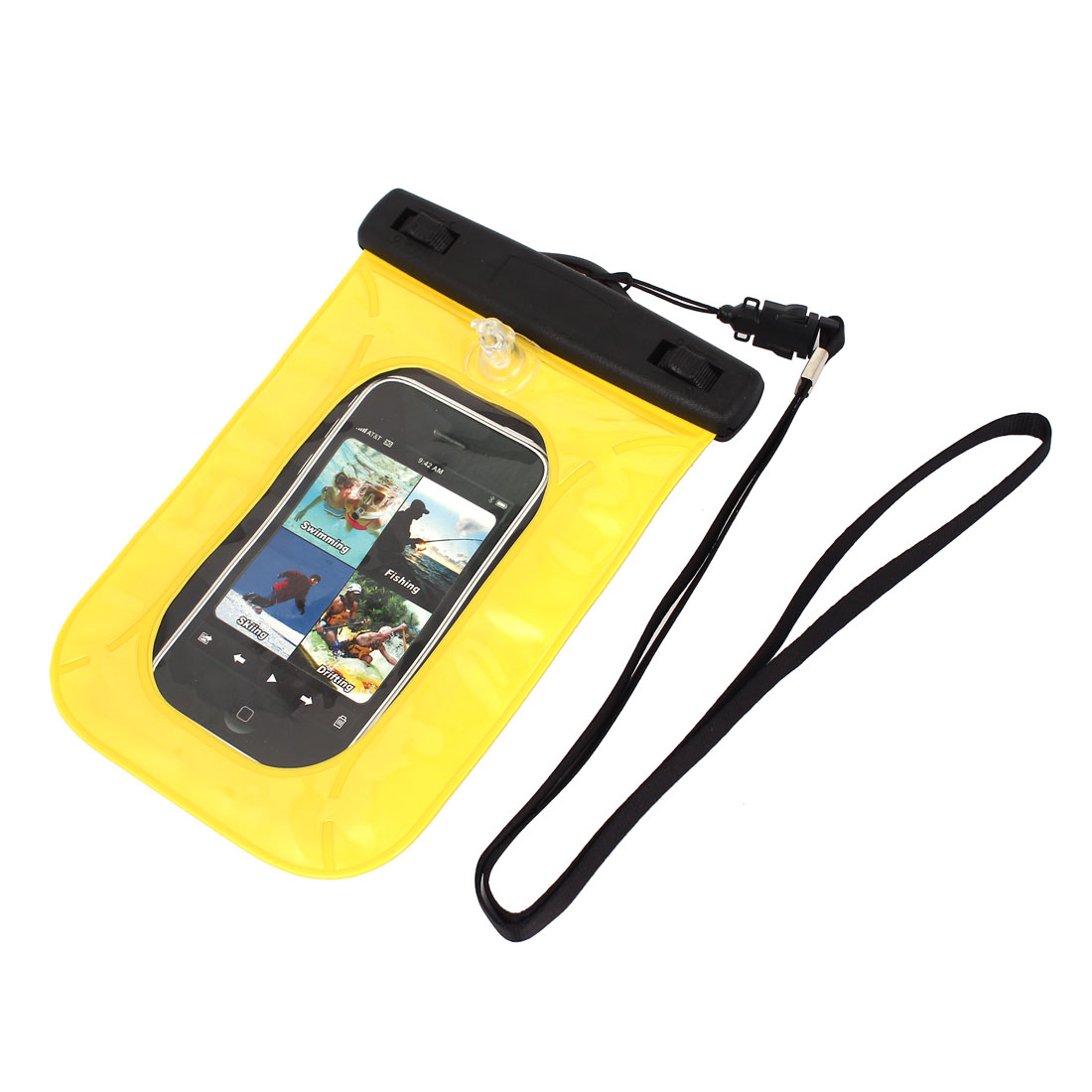 "Waterproof Pouch Underwater Diving Dry Bag Case Cover Yellow for 4"" Cell Phone"