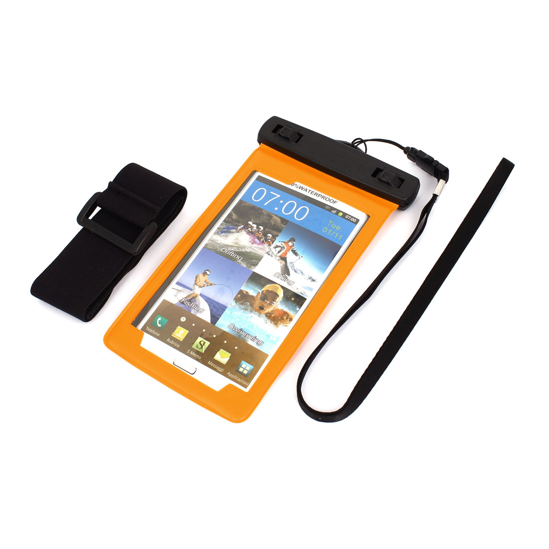 Mobile Phone Underwater Waterproof Case Dry Bag Skin Cover Pouch Saver Orange
