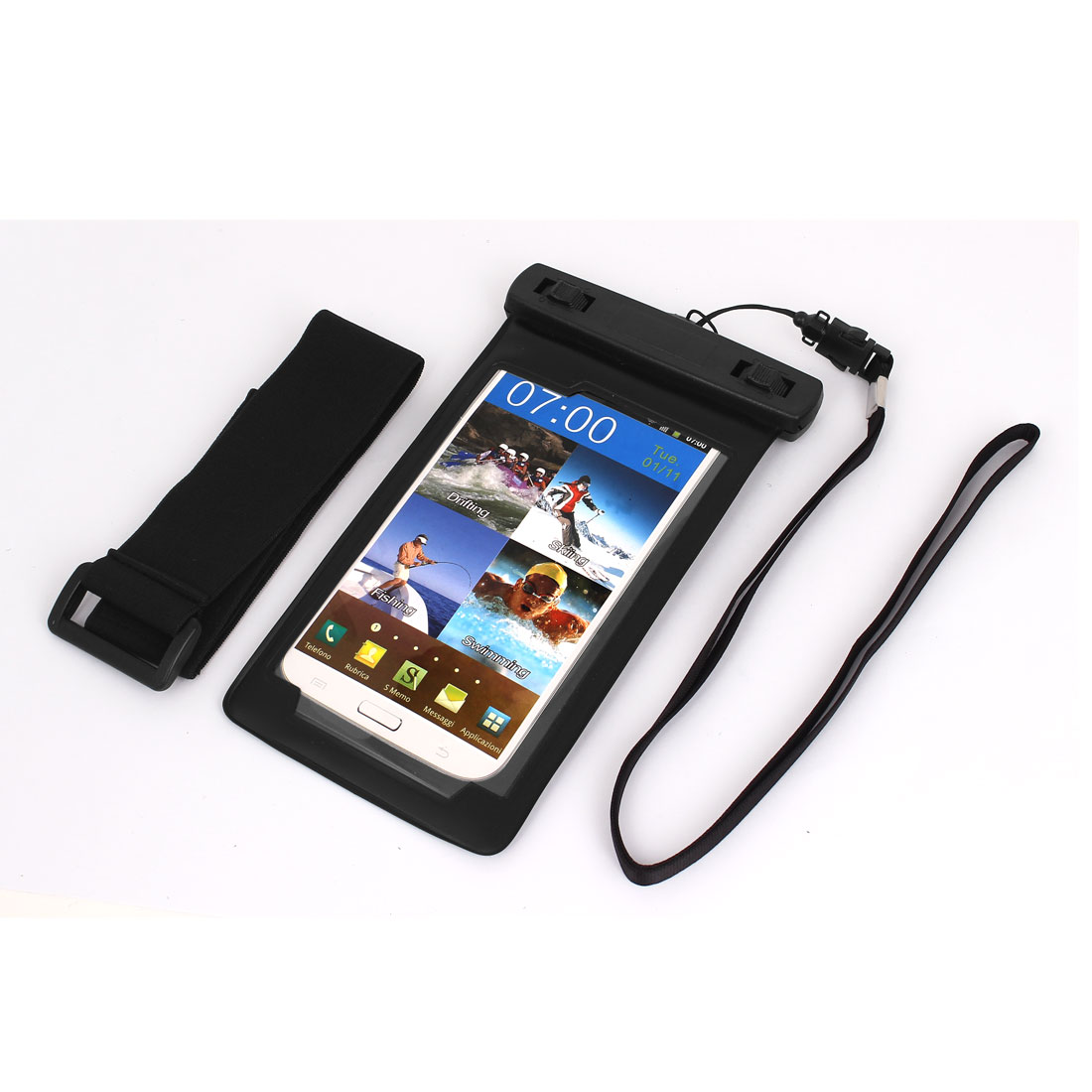 Mobile Phone Underwater Waterproof Case Dry Bag Skin Cover Pouch Saver Black