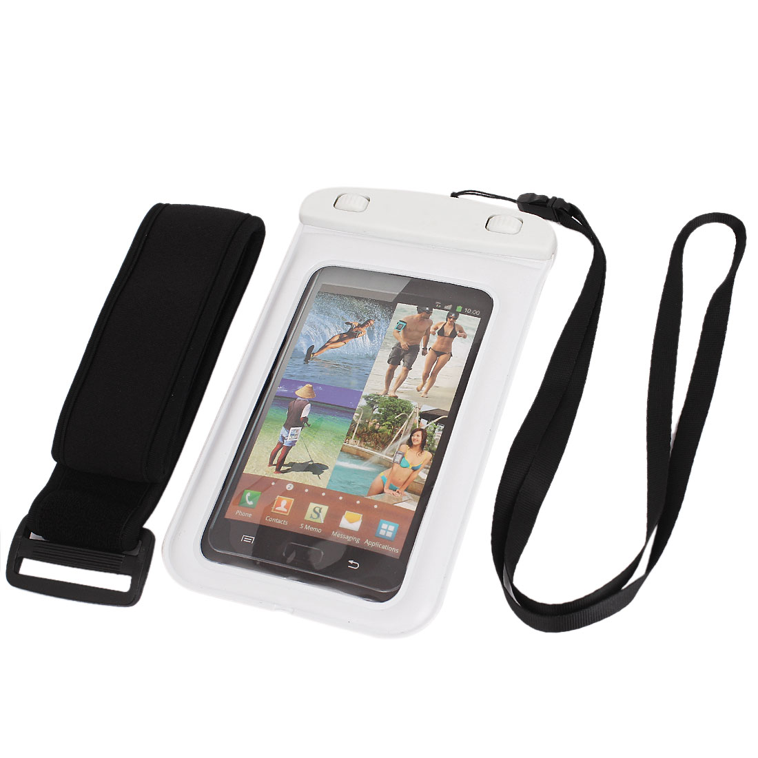 """Waterproof Case Dry Bag Skin Cover Pouch Sleeve for 5.5"""" Cell Phone"""