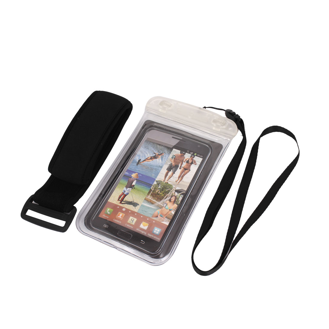 "Underwater Waterproof Case Dry Bag Skin Cover Pouch Clear for 5.5"" Cell Phone"