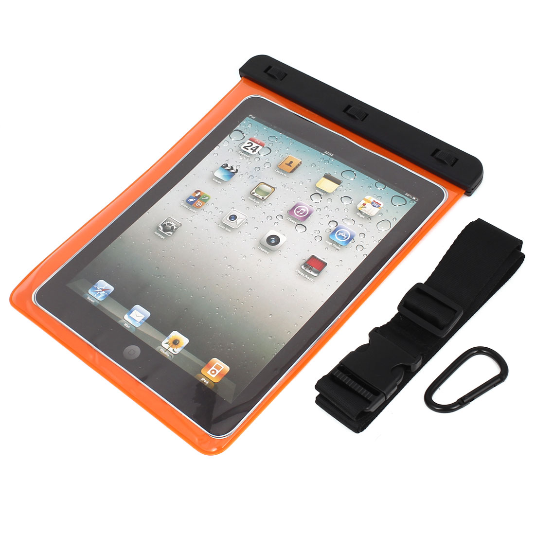 "Waterproof Sleeve Case Bag Cover Orange for 9.7"" 10"" 10.1"" Tablet PC iPad PAD"