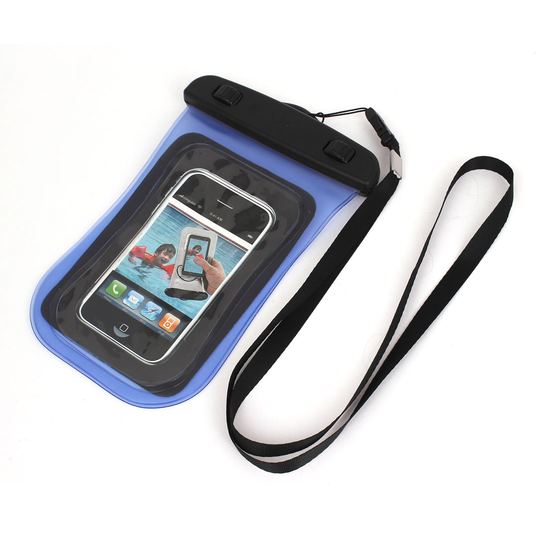 """Waterproof Case Dry Bag Cover Protector Pouch Yellow for 4"""" Mobile Phone"""