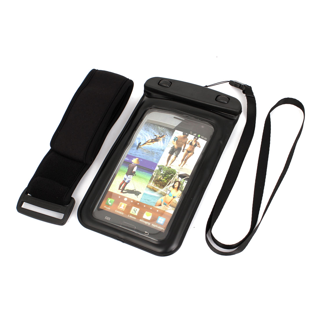 "Underwater Waterproof Case Dry Bag Cover Pouch + Strap for 5.5"" Cell Phone"
