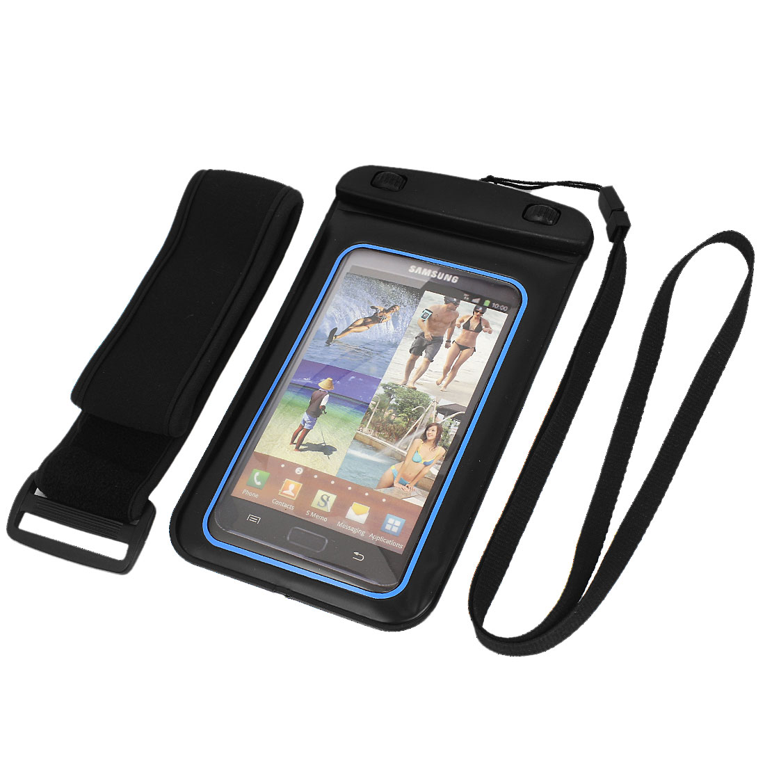 "Waterproof Underwater Case Dry Bag Skin Cover Pouch for 5.5"" Cell Phone"