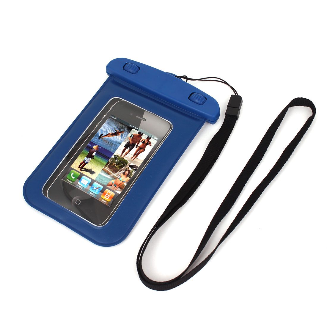"Underwater Waterproof Case Dry Bag Cover Pouch Blue for 4"" Cell Phone"